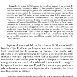 Alexandra DIRIART, « Veluti consecrantur ». De la consécration baptismale à la consécration des époux