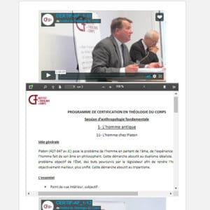 Session de certification en vidéo « Comprendre la théologie du corps – Les fondamentaux »