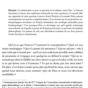 Blanca CASTILLA de CORTAZAR, Amour de don et transcendance