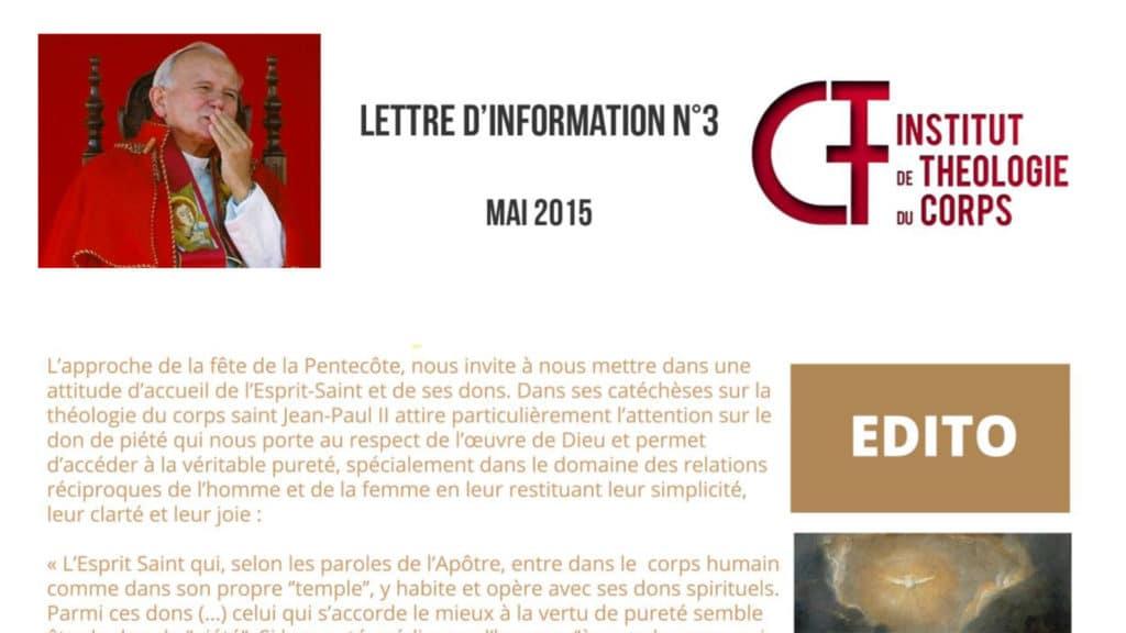 Lettre d'information N°3 - mai 2015