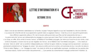 Lettre d'information N°4 - octobre 2015