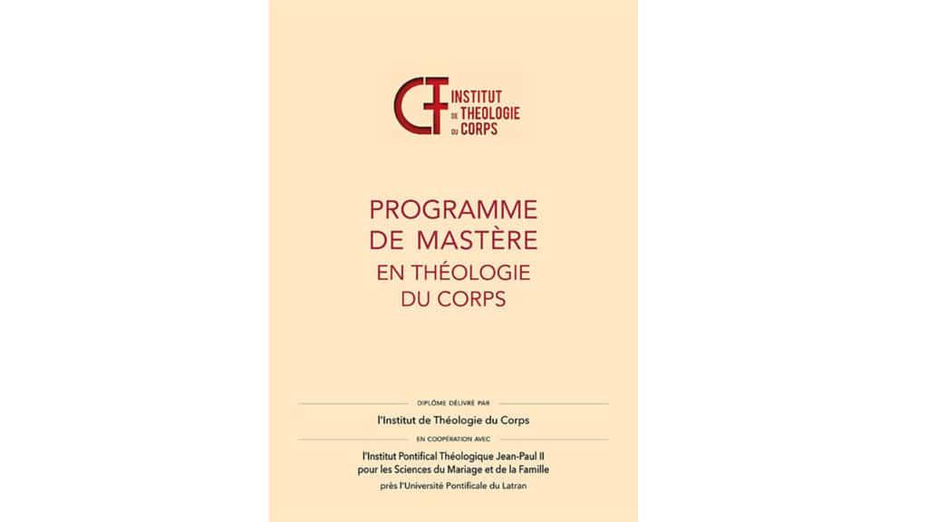 Report de la date limite des inscriptions au Mastère en théologie du corps