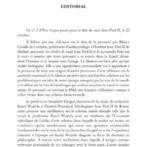 Editorial - Ecce Corpus - Numéro 3
